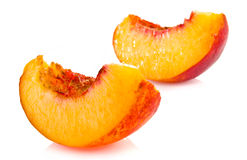 Slices of ripe peach Royalty Free Stock Photo