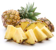 Slices of ripe pineapple. Royalty Free Stock Images