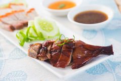 Slices of roast duck traditional chinese cuisine Stock Photo