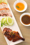 Slices of roast duck traditional chinese cuisine Royalty Free Stock Image