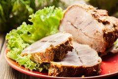 Slices of roasted shoulder Stock Image