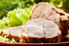 Slices of roasted shoulder Stock Photography