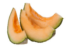 Slices of rockmelon Stock Photos