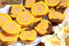 Slices of rolled cake Royalty Free Stock Image