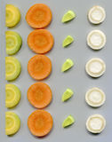 Slices of root vegetables Stock Images