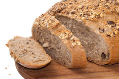 Slices of round rye bread Royalty Free Stock Photography