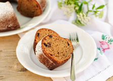Slices of Rustic Style Bundt Cake Royalty Free Stock Image