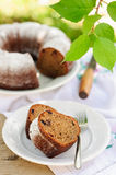 Slices of Rustic Style Bundt Cake Stock Images