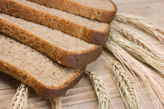 Slices of rye bread Stock Photo