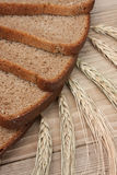Slices of rye bread Stock Photos