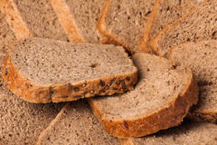 Slices of rye bread Royalty Free Stock Image