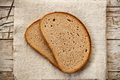 Slices in rye bread Stock Images