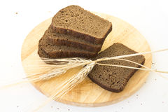 Slices of rye bread Stock Images