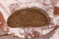 Slices of rye bread Royalty Free Stock Photos