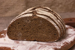 Slices of rye bread Royalty Free Stock Images