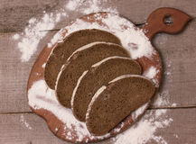 Slices of rye bread Royalty Free Stock Photography