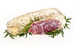 Slices of salame from Italy Royalty Free Stock Photos
