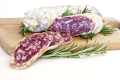 Slices of salame from Italy Stock Photos