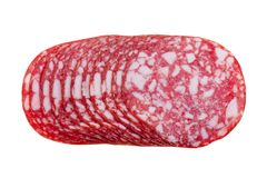 Slices salami isolated Royalty Free Stock Photo