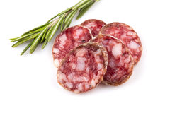 Slices of salami Royalty Free Stock Photography