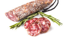 Slices of salami Royalty Free Stock Images
