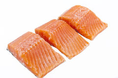 Slices of salmon Stock Image