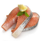Slices Of Salmon Stock Photos