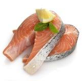 Slices Of Salmon Stock Photos