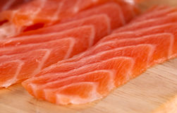 Slices of salmon Stock Photography