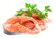 Slices of salmon Royalty Free Stock Image