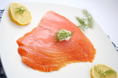 Slices of salmon Royalty Free Stock Images