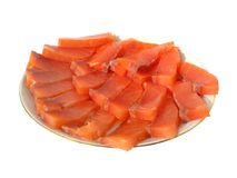 Slices of salty trout Stock Images