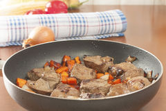 Slices of sauteed beef liver Royalty Free Stock Image
