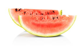 Slices and slice watermelon isolated white Royalty Free Stock Image