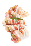 Slices of smoked bacon Stock Photography