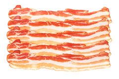 Slices of smoked bacon Royalty Free Stock Photography