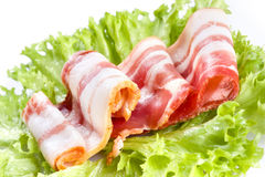 Slices of smoked bacon Royalty Free Stock Images