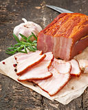 Slices smoked bacon Royalty Free Stock Photo