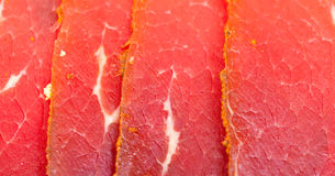 Slices of Smoked Meat Royalty Free Stock Images