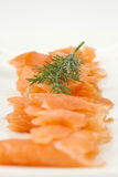 Slices of smoked salmon Royalty Free Stock Photos