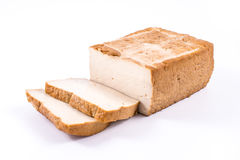 Slices of soy cheese tofu Stock Image