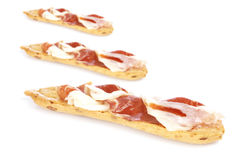 Slices of spanish ham Royalty Free Stock Image