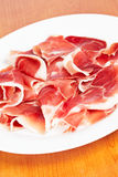 Slices of spanish ham Royalty Free Stock Photography