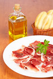 Slices of spanish ham Royalty Free Stock Photography