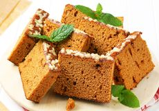 Slices of spice cake Stock Photography