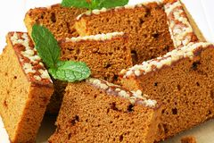 Slices of spice cake Stock Image