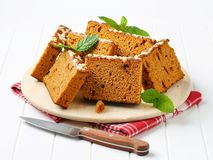 Slices of spice cake Royalty Free Stock Images
