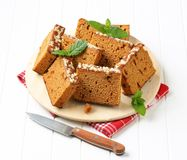 Slices of spice cake Royalty Free Stock Photo