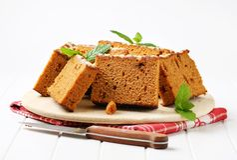 Slices of spice cake Stock Photos