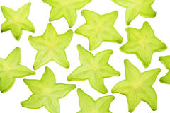 Slices of Star Fruit Stock Photo